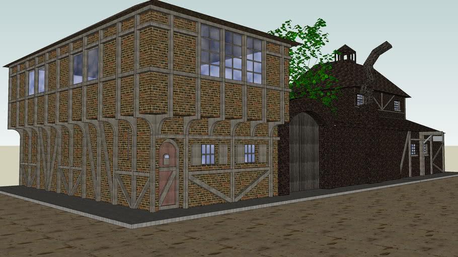 maison moyen age  10D Warehouse