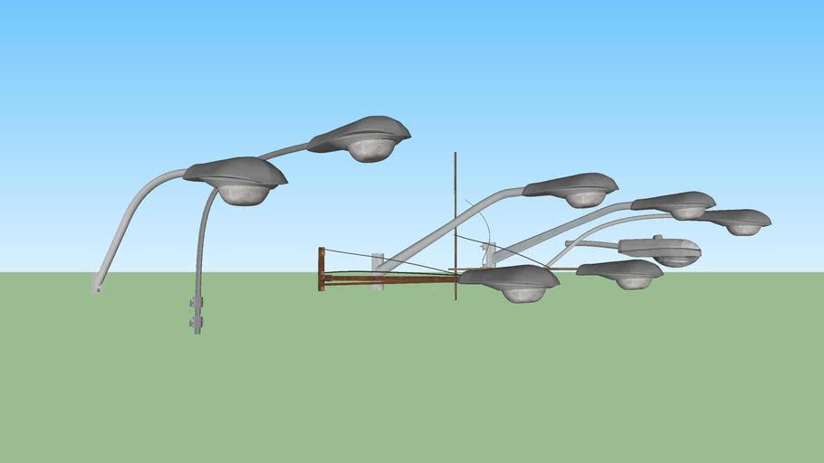 Attached street light set