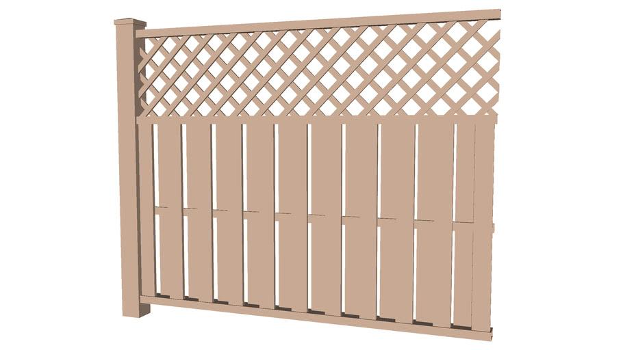 Wood privacy fence lattice