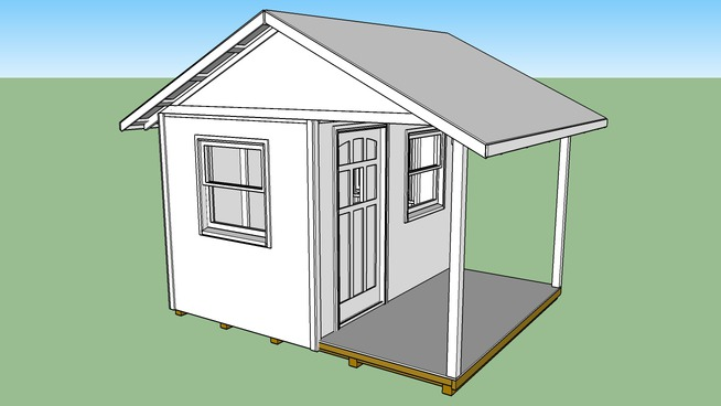 Tool Shed with Porch for Sitting