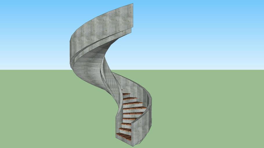 Elliptical Concrete Stairs