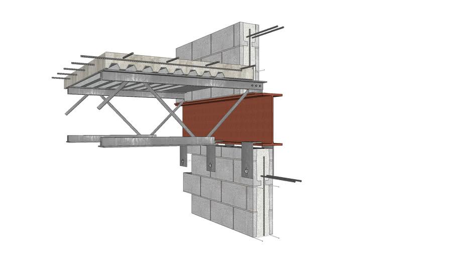 Floor Connection Detail, Open Web Steel Joists