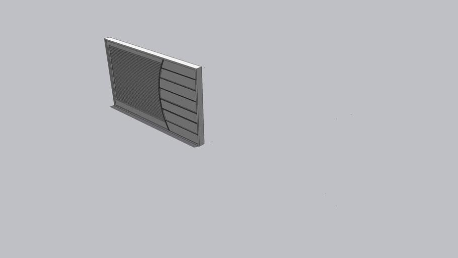Portão de garagem vazado