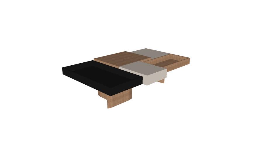Mesa de Centro Mista 1460x950x350  - Rejane Carvalho Leite