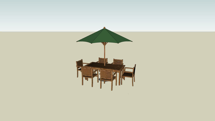 square teak garden table and chairs patio set