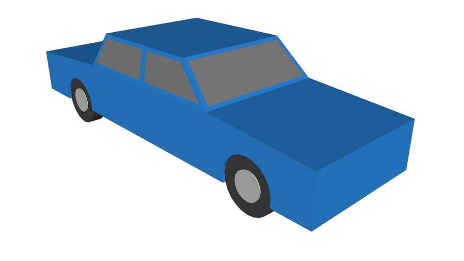Very SImple 3D Car, Blue