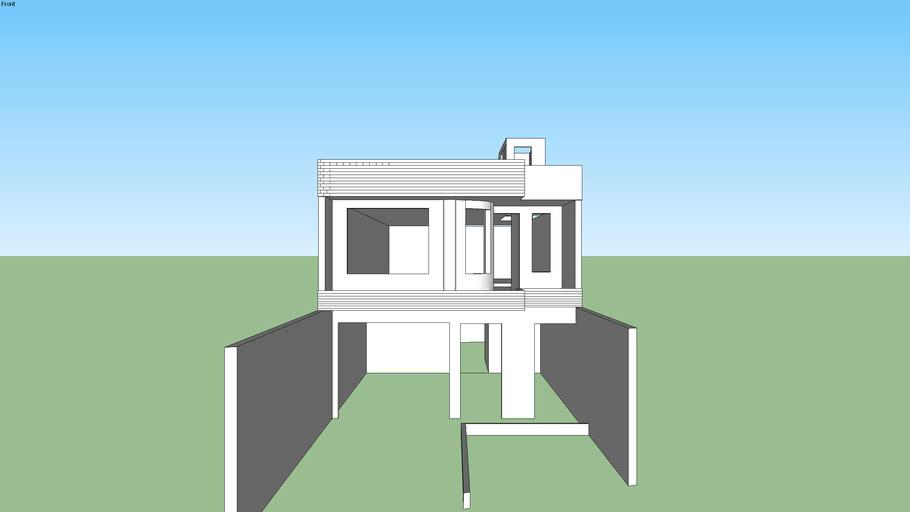 Casa 2 Pisos Con Terraza 3d Warehouse