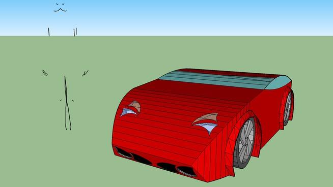 Wide-body supercar