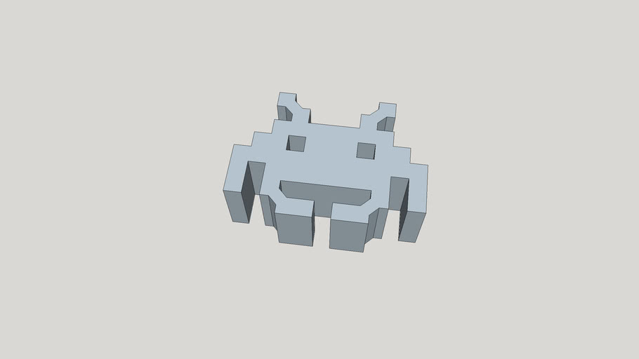 Space Invaders Figurine