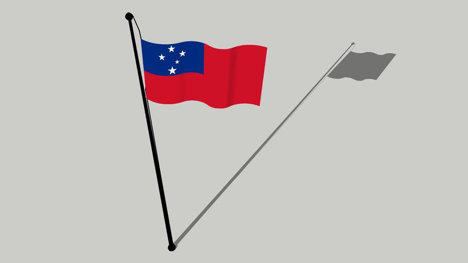 Flag of Samoa - fu'a e Sāmoa