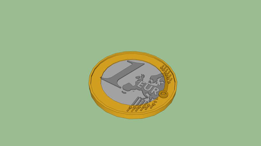 1 € (elölnézet)