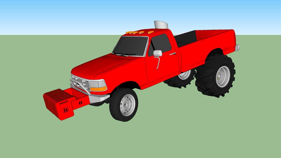 pulling truck