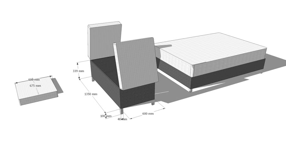 Bed Extension System  By Grim