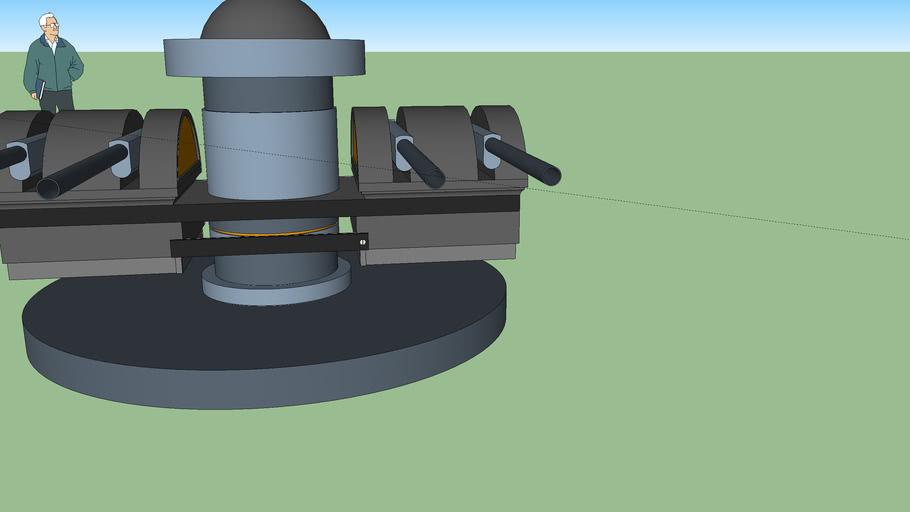 101 mm Quad Cannon