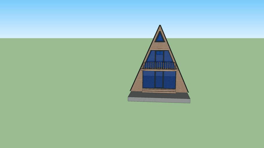 üçgen ahşap ev