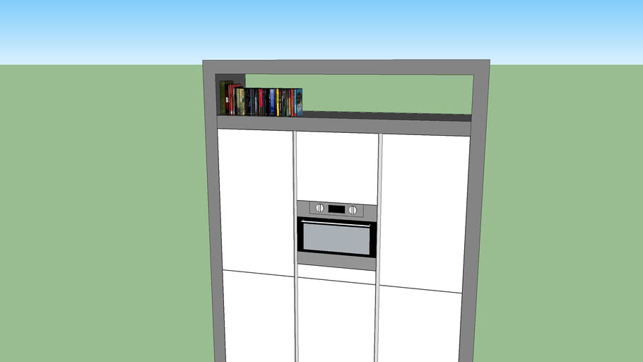 Kastenwand witte keuken met stolp