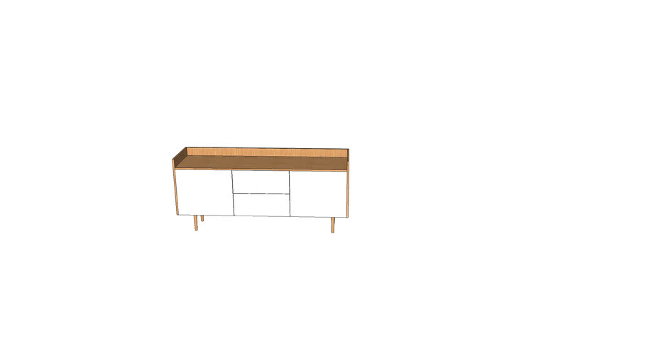 white and wooden rtv cabinet