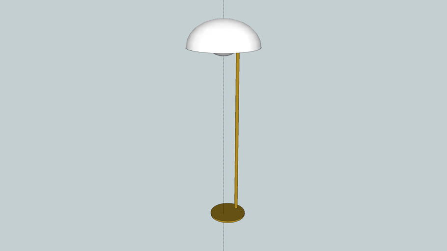 Luminária de Piso Refletor Dourado Fosco - La Lampe