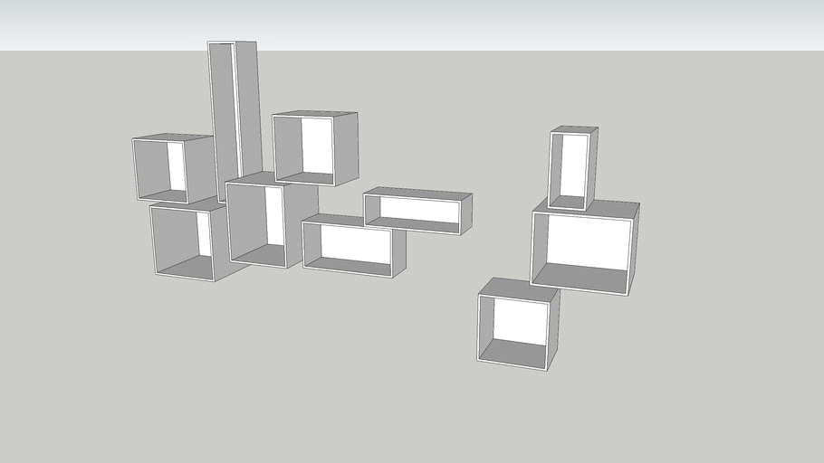 wall decoration shelves | 3D Warehouse
