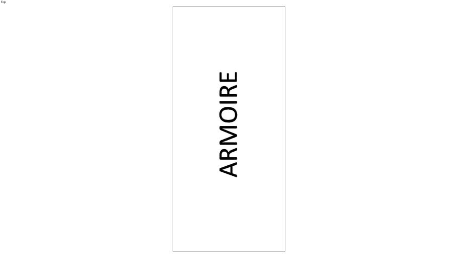 SYMBOLE ARMOIRE 120X55