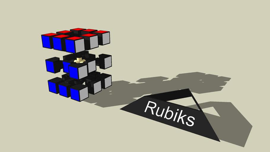 Exploded Rubiks Cube