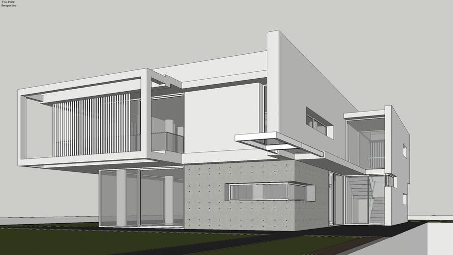 Contemporary House: Villa PM (Tutorial Model)