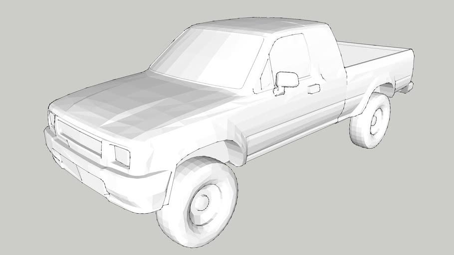 Car – Pickup Car – 1/50 – White