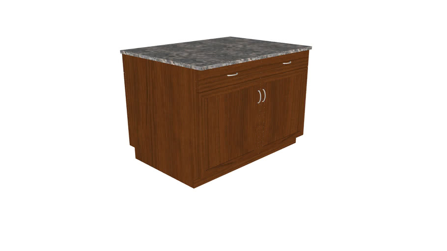 Freestanding Kitchen Island Cabinet  - Detailed