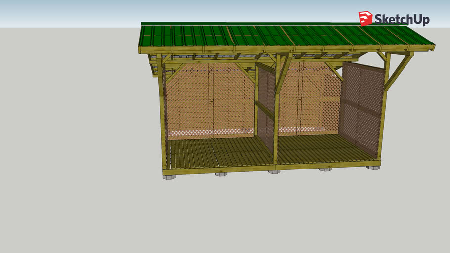 Woodshed with Storage Area