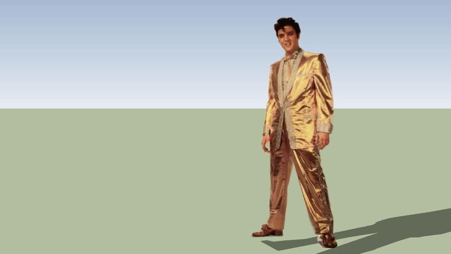 Elvis in Gold Lame 2D