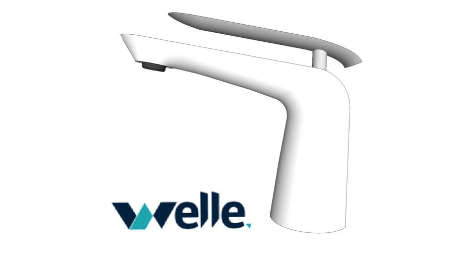 Torneira de banheiro bica baixa branco e cromado Welle