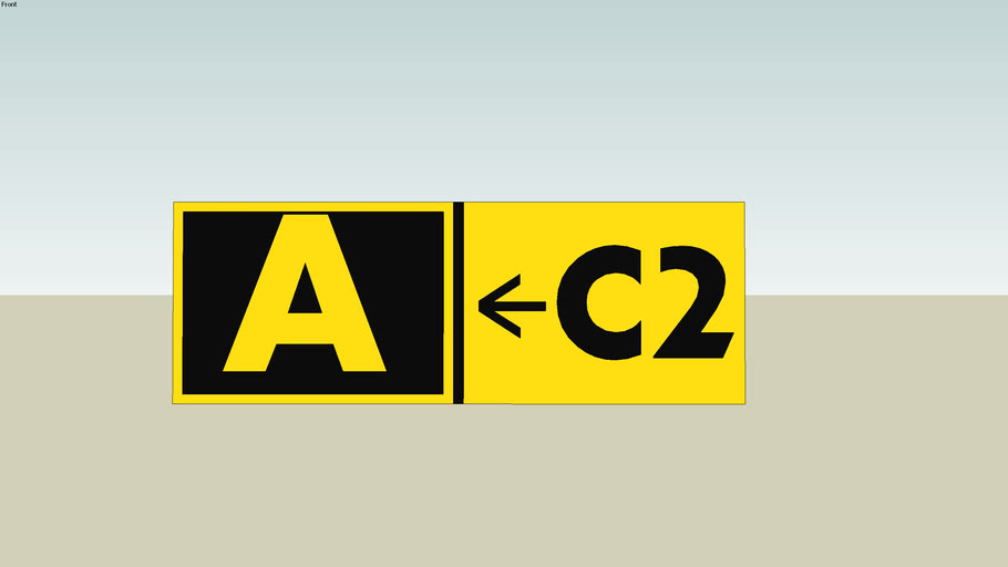airline taxiway sign