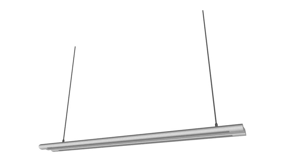 Fluorescent Hanging Ceiling Lamp 48in Version 2 - Detailed