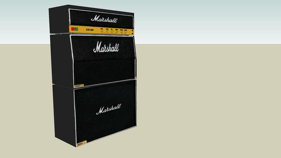 Marshall JCM 200 stack