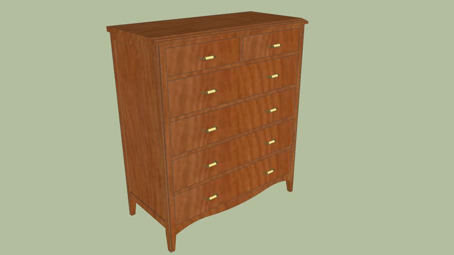 Classic 6 drawer cherry dresser