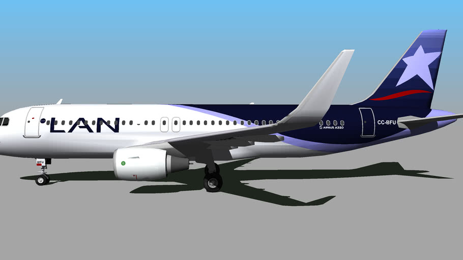 LAN Airlines (CC-BFU) - Airbus A320-214(SL) (2014)