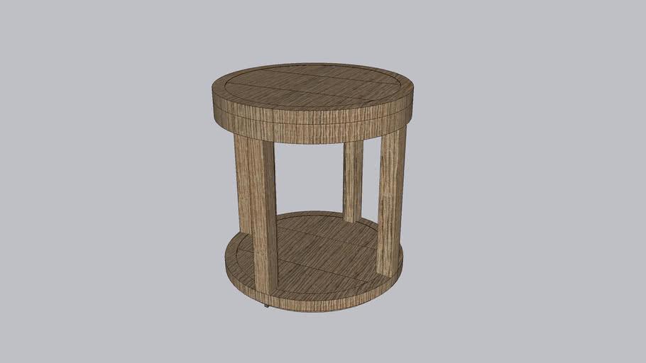 CAPRI TEAK ROUND SIDE TABLE