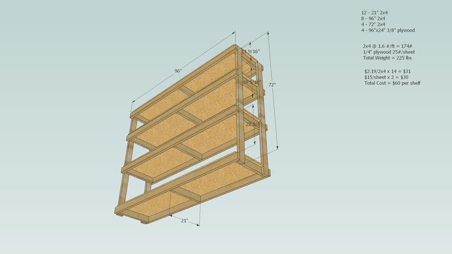 """Basement or Garage Shelf System - 24"""" Deep x 72"""" High x 96"""" Wide"""
