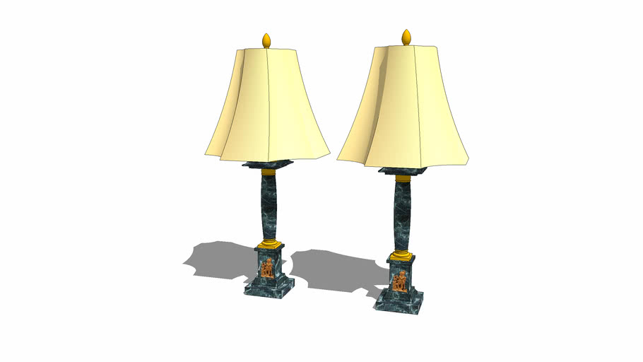 Table lamps in marble and bronze