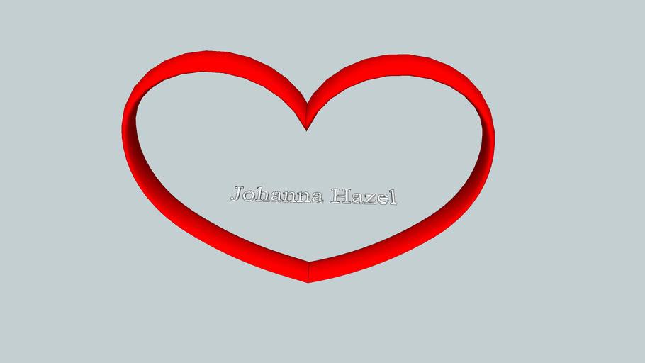 Johanna in a heart