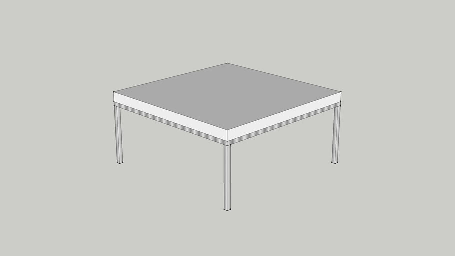 IKEA KLUBBO Coffee table 78x78 white