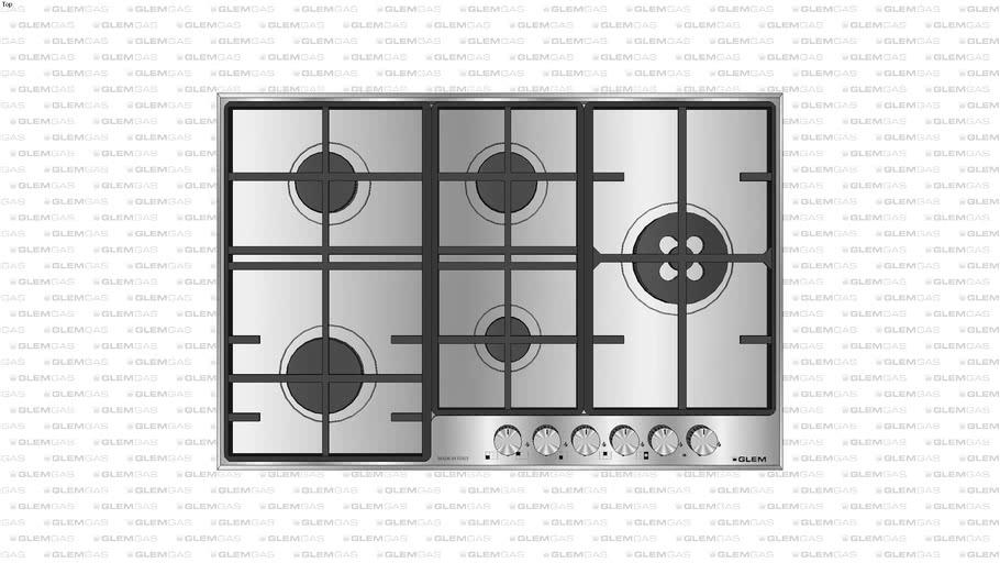 Cooktop Glem Matrix - 75cm - Lateral Direita