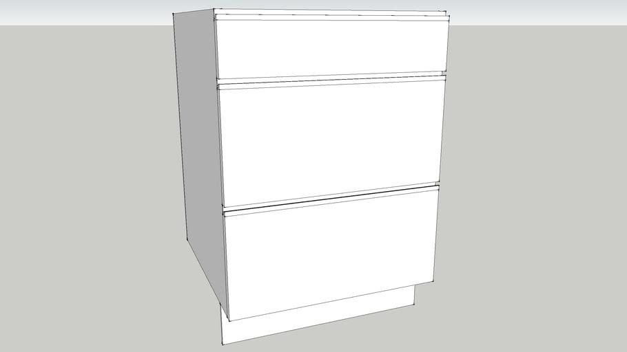 3 drawer base unit