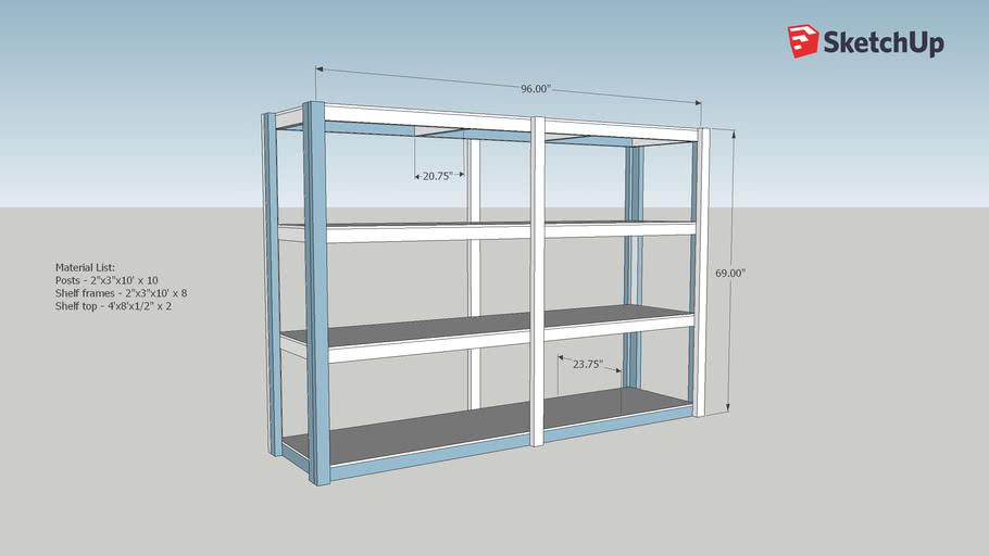 Storage Shelving Unit 4 Shelfs