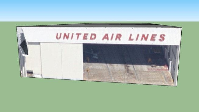 United Air Lines Hangar in South San Francisco, CA, USA