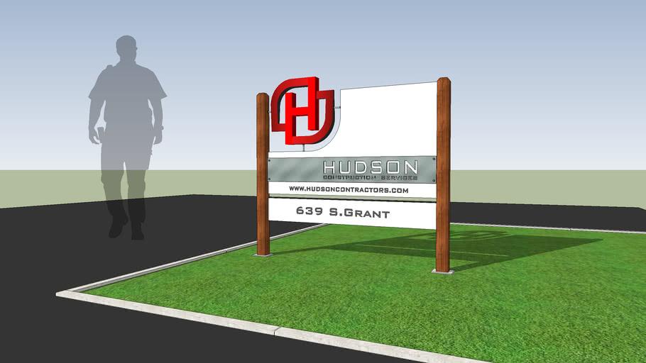 Yard Sign. HUDSON Construction Services  v.001-02