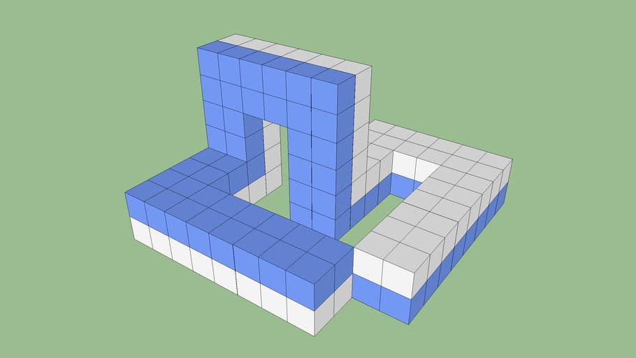 2.1- Anillo Môbius de 8 tramos. Giros internos
