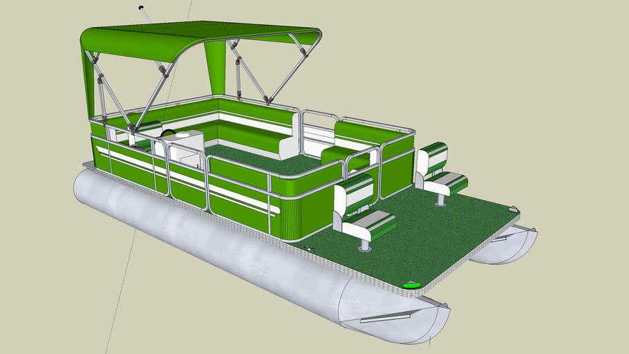 Detailed Pontoon Boat