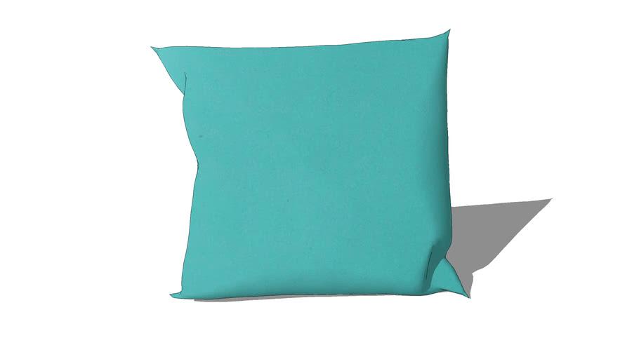 Coussin d'extérieur bleu turquoise 50 x 50 cm REF 156854