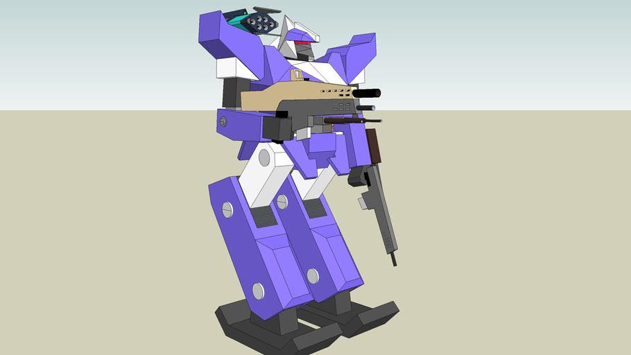 Robot mech flamethrower